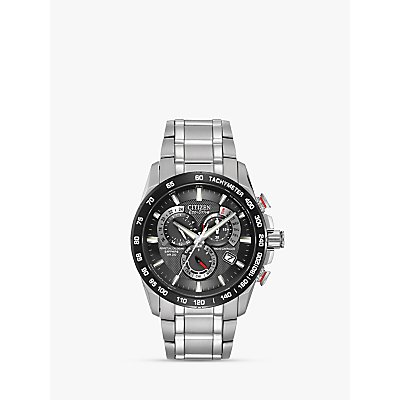 Citizen AT4008 51E Men s Eco Drive Perpetual Calendar Chronograph Bracelet Strap Watch  Silver Black - 4974374215291