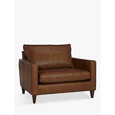 John Lewis Bailey Semi-Aniline Leather Snuggler, Lustre Cappuccino
