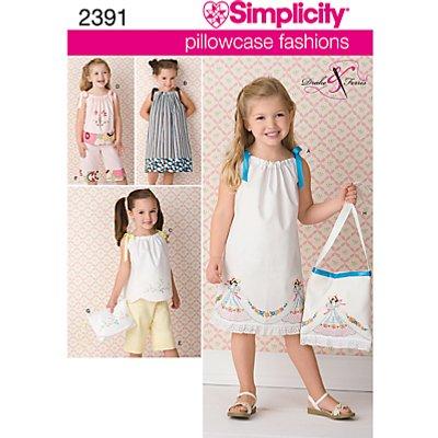 Simplicity Pillowcase Fashions Children Dressmaking Leaflet  2391  A - 039363523918