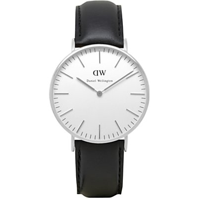 Daniel Wellington DW00100053 Women s Vintage Leather Strap Watch  Black White - 7350068240492