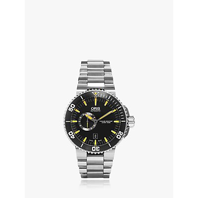 5052210003666 | Oris 01 743 7673 4159 07 8 26 01PEB Men s Aquis Small Second Date Automatic Bracelet Strap Watch  Silver Black