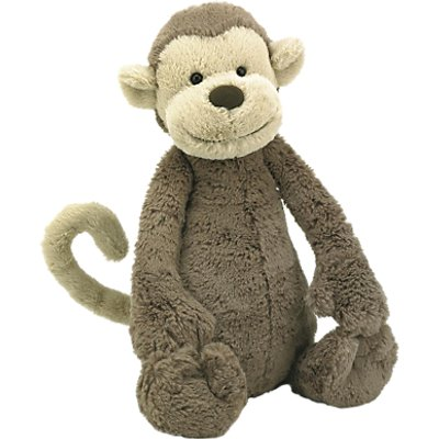 Jellycat Bashful Monkey Soft Toy, Large