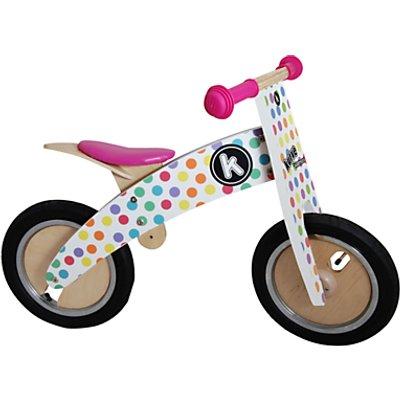 Kiddimoto Kurve Balance Bike, Pastel Dotty