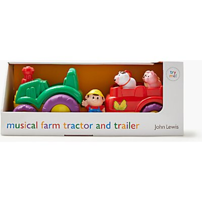 John Lewis & Partners Musical Farm Tractor & Trailer Playset