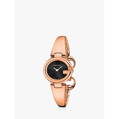Gucci YA134509 Women s Guccissima Bangle Strap Watch  Rose Gold Black - 731903353923