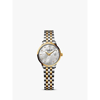 Raymond Weil 5988 STP 97081 Women s Toccata Two Tone Mother of Pearl Bracelet Strap Watch  Silver Gold - 7611784045359