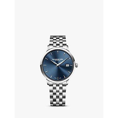 Raymond Weil 5488 ST 50001 Men s Date Bracelet Strap Watch  Silver Blue - 7611784045298