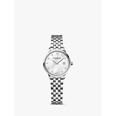 Raymond Weil 5988 ST 97081 Women s Mother of Pearl Diamond Stainless Steel Bracelet Strap Watch  Silver - 7611784037248