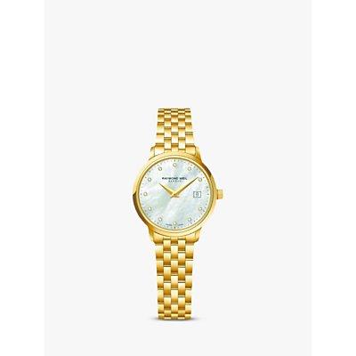 Raymond Weil 5985 P 97081 Women s Toccata Diamond Bracelet Strap Watch  Gold Silver - 7611784045366