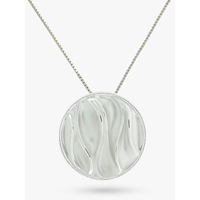 Nina Breddal Sterling Silver Wrinkled Texture Round Pendant - 20210052