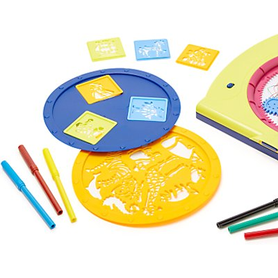John Lewis & Partners Mandala Drawing Toy & Stencil Set