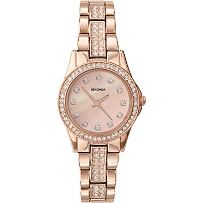 Sekonda 2034 27 Women s Rose Gold Plated Bracelet Strap Watch  Sandblast Rose - 5051322020349