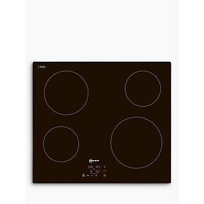 Neff T10B40X2 4 Burner Black Ceramic Glass Electric Hob - 4242004163077