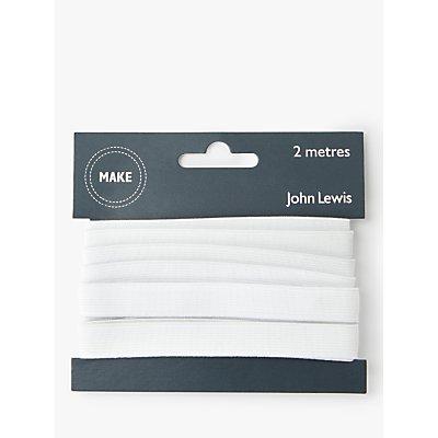 John Lewis & Partners 13mm Woven Elastic, 2m