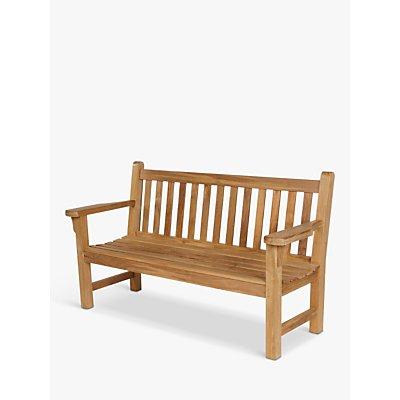 Barlow Tyrie London 3-Seat Garden Bench, Natural