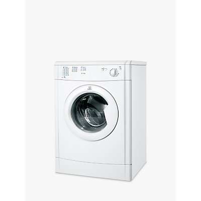 Indesit IDV75 Ecotime Vented Tumble Dryer, 7kg Load, B Energy Rating, White