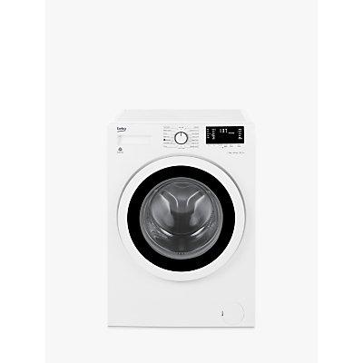 Beko WY74242W Slim Depth Freestanding Washing Machine, 7kg Load, A+++ Energy Rating, 1400rpm Spin, White