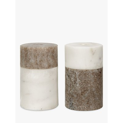 John Lewis Arundel Marble Salt   Peper Holder - 21075483
