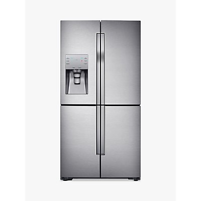 Samsung RF56J9040SR 4-Door American-Style Freestanding 65/35 Fridge Freezer, A+ Energy Rating, 90cm