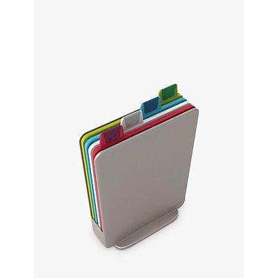 Joseph Joseph Mini Index Plastic Chopping Boards & Storage Case Set, Silver