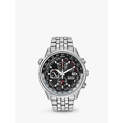 Citizen CA0080 54E Men s Red Arrows Chronograph Mesh Bracelet Strap Watch  Silver Black - 4974374210661