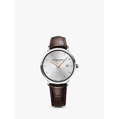 Raymond Weil 5488 SL5 65001 Men s Toccata Leather Strap Watch  Brown Silver - 7611784038467
