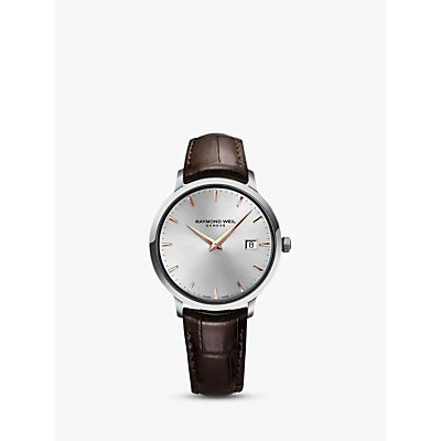 Raymond Weil 5488 SL5 65001 Men s Toccata Leather Strap Watch  Brown Silver - 7611784038450