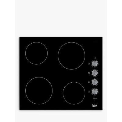 5023790038409   Beko HCC64103 Frameless Electric Ceramic Hob  Black