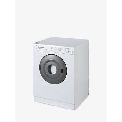 Hotpoint V4D01P First Edition Vented Compact Tumble Dryer, 4kg Load, C Energy Rating, Polar White