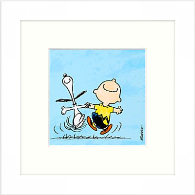 Peanuts   Snoopy and Charlie Brown  Framed Print  23 x 23cm - 21713668