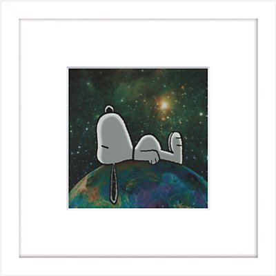 Peanuts   Snoopy On Top of The World  Framed Print  23 x 23cm - 21713637