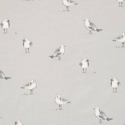 John Lewis Seagulls Furnishing Fabric  Smoke - 21695070