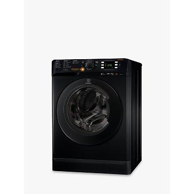 Indesit Innex XWDE751480XK Freestanding Washer Dryer, 7kg Wash/5kg Dry Load, A Energy Rating, 1400rpm Spin, Black