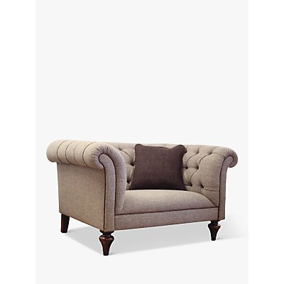 Tetrad Gleneagles Snuggler Sofa, Harris Tweed Heather Tweed with Brompton Tan Piping