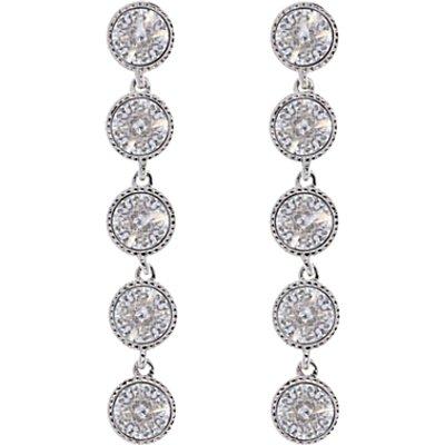 Ted Baker Rizza Drop Crystal Earrings  Silver - 5055336317679