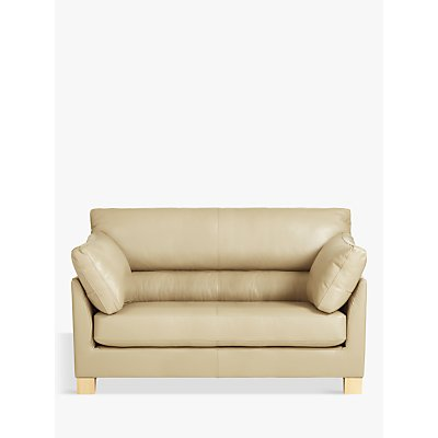 John Lewis & Partners Ikon High Back Leather Snuggler, Dark Leg