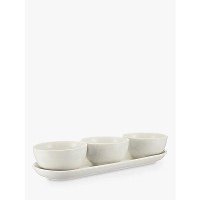 John Lewis Croft Collection Luna 3 Dip Bowls On Tray - 22415554