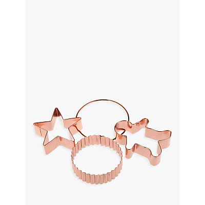 John Lewis Croft Collection Copper Cookie Cutters  Set of 3 - 22458056