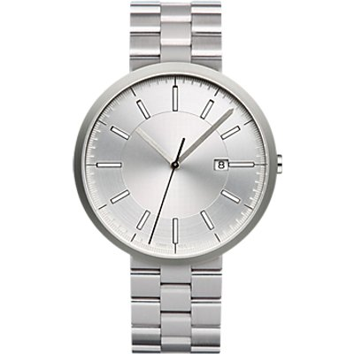 Uniform Wares M40BSI01BRABSI1818R01 Men s M40 Date Bracelet Strap Watch  Silver - 634158599583