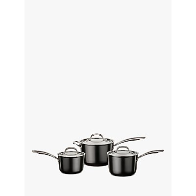 Circulon Ultimum High Density Forged Aluminium Lidded Non-Stick Saucepan Set, 3 Pieces