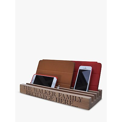 The Oak And Rope Company Personalised Family Charging Station
