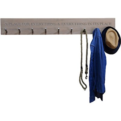 The Oak And Rope Company Personalised Peg Rail