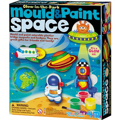 Mould & Paint Glow In The Dark Space Kit