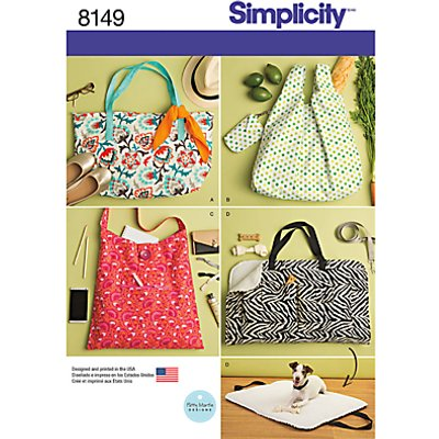 Simplicity Bags Sewing Pattern  8149 - 039363581499