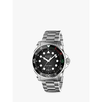 Gucci YA136208 Unisex Dive Stainless Steel Bracelet Strap Watch  Steel - 0731903382596