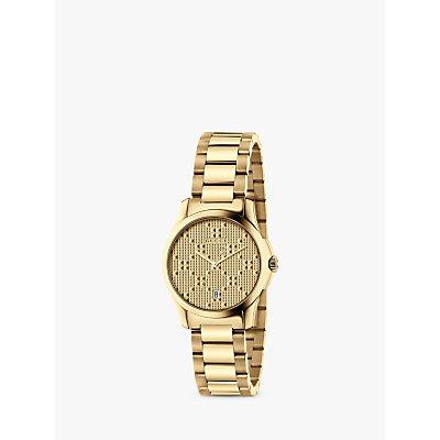 Gucci YA126553 Women s G Timeless Date Bracelet Strap Watch  Gold - 0731903382060