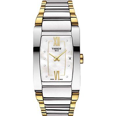 Tissot T1053092211600 Women s Generosi Diamond Date Two Tone Bracelet Strap Watch  Silver Gold - 7611608275894