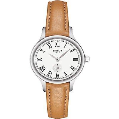 Tissot T1031101603300 Women s T Lady Bella Ora Leather Strap Watch  Tan White - 7611608274934