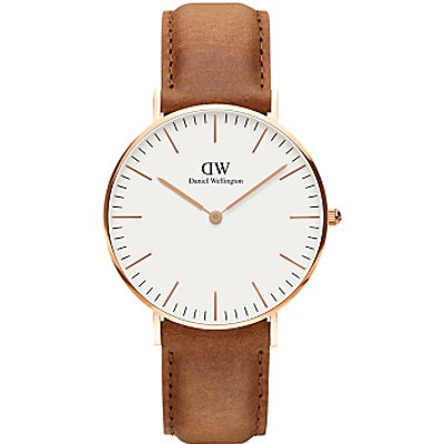 Daniel Wellington Women s Classic Durham Leather Strap Watch - 7350068244070
