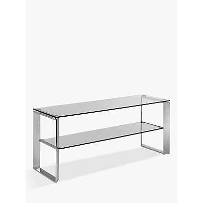 John Lewis & Partners Tropez Glass TV Stand For TVs up to 60